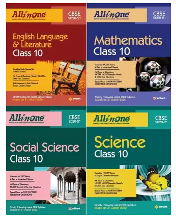 CBSE All In One Class 10 Science,Social Science,Mathematics And English Combo (Set Of 4 Books) (Paperback, Arihant Experts)