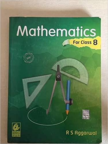 Mathematics Class-8 by R S Aggarwal (Bharti bhawan)