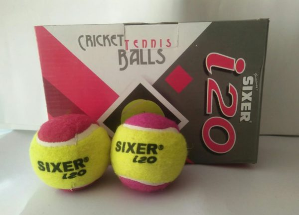 Sixer I-20 Tennis ball Double color (pack of 12)