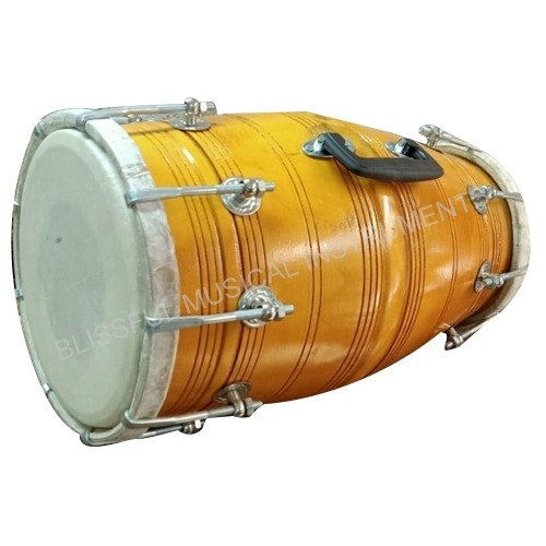 musical yellow wooden dholak 500x500 1