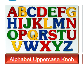 Alphabet learning Uppercase Knob toys