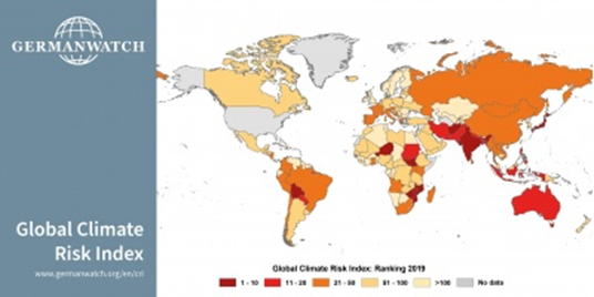 India Among the top 10 Worst-Hit Countries by Climate Change in the Global Climate Risk Index 2021
