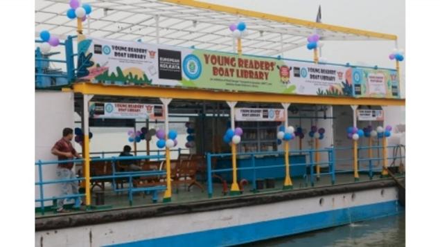 Kolkata's First 'Young Readers' Boat Library