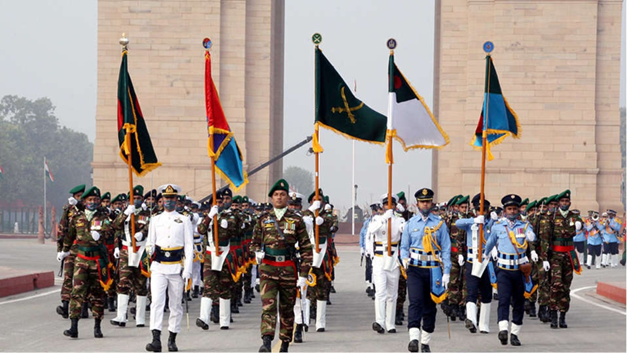 Bangladesh Forces Took Part in Republic Day Event