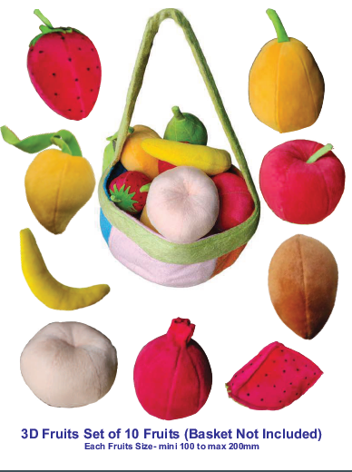 3D Fruits Set of 10