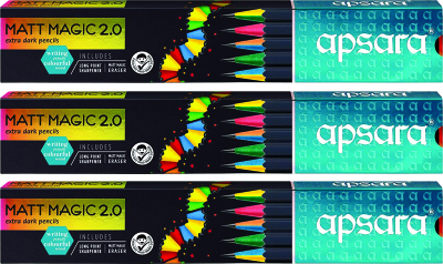 Apsara Matt Magic 2.0 Pencils (Pack of 3)