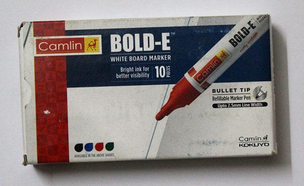 Camlin Bold-E white board marker (10 markers)