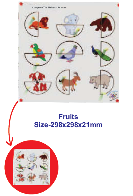 Complete The Halves- Fruits