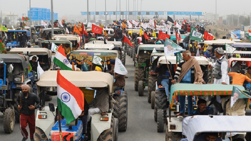 2021 Farmers' tractor parade on Republic day