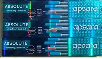 Apsara Absolute Extra Strong, Extra Dark Pencils (Pack of 3)