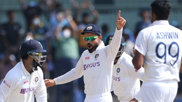 India Beats England (134 & 164) by 317 Runs in 2nd Test at Chennai