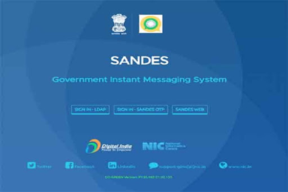 National Informatics Centre Launches Instant Messaging App Sandes