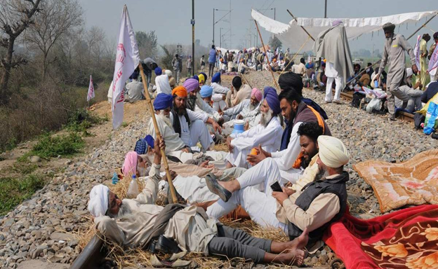 Farmers Movement: Four-hour Rail Roko Agitation Conducted by Farmers Across the Nation