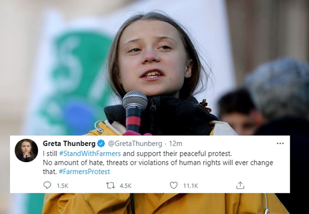 Farmers' Protests: FIR Filed by Delhi Police Against Protest Toolkit Shared by Greta Thunberg
