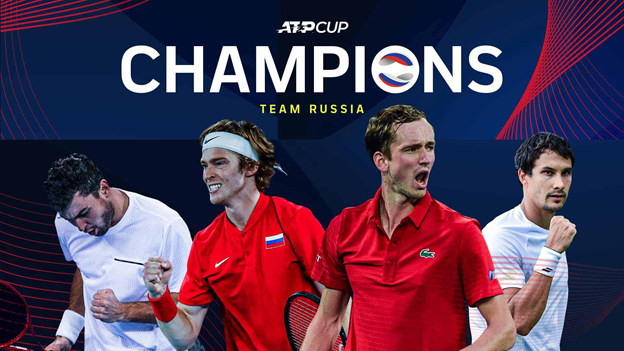Russia ATP Cup Tennis Tournament in Melbourne