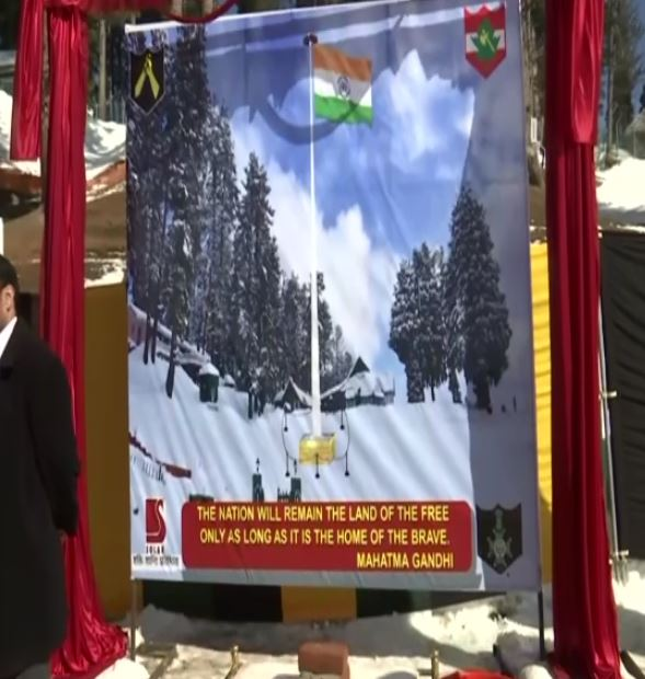 Indian Army Laid the Foundation Stone of Tallest Indian Flag in Kashmir