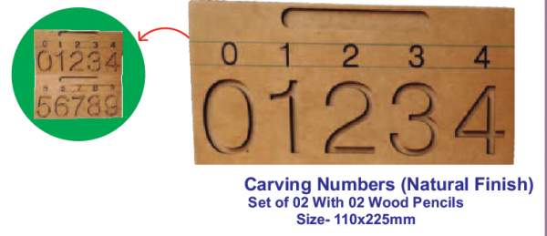 Carving Numbers (Natural Finish)
