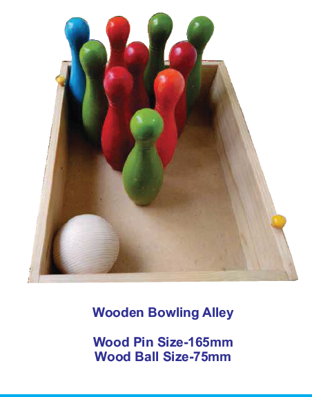 Wooden Bowling Alley