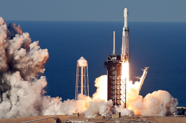 SpaceX's Falcon Heavy, the World's Most Powerful Rocket Carrying Car into Space