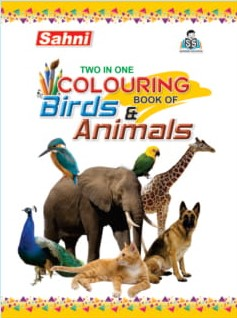 Two In One Colouring Book Of Birds & Animals
