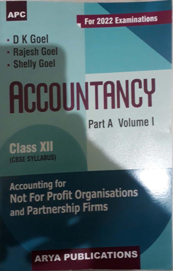 Accountancy - 12 (Partnership) (D.K. Goel) For 2021-2022 Session