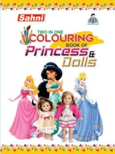Two In One Colouring Book Of Princess and Dolls