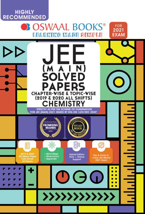 Oswaal JEE Main Solved Papers Chapterwise & Topicwise for Chemistry