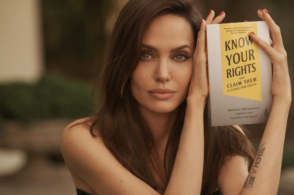 Angelina Jolie Launched her New Book 'Know Your Rights and Claim Them: A Guide for Youth'