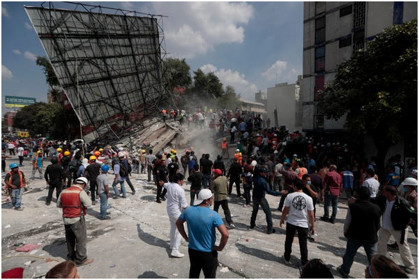 The Earthquake with a Magnitude of 7.1 Shook Mexico City