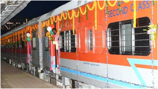 Railway Minister Flagged off the Hirakhand Express with Modern LHB Coaches